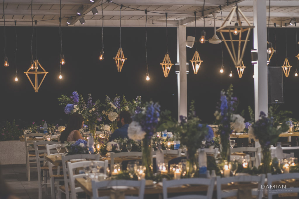 Decoration view of the wedding venue