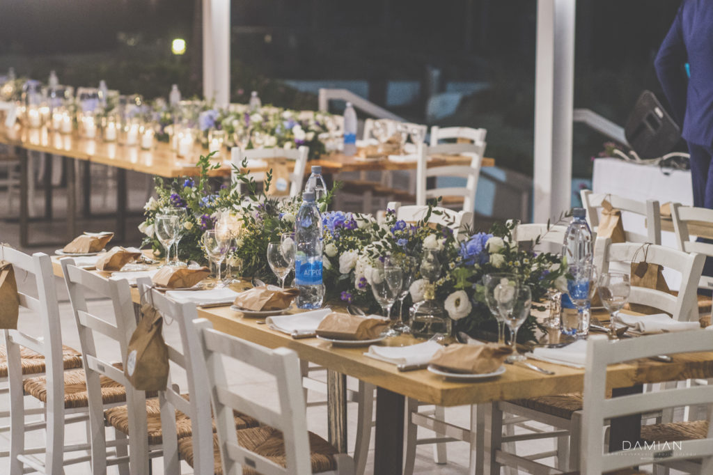 Perfect decoration and setting for guests tables