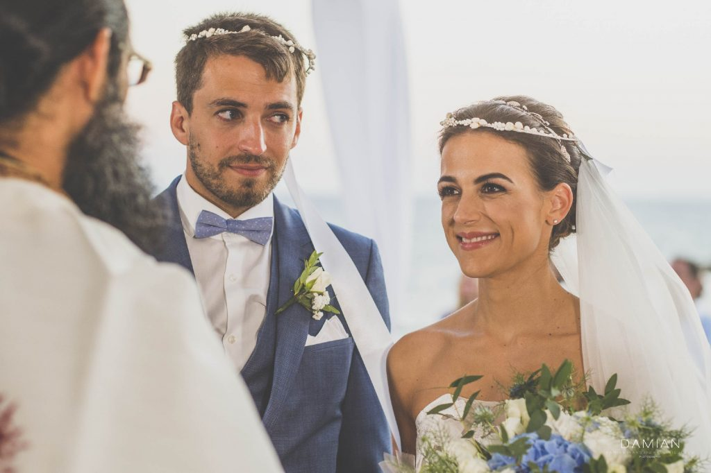Couple at ceremony at church