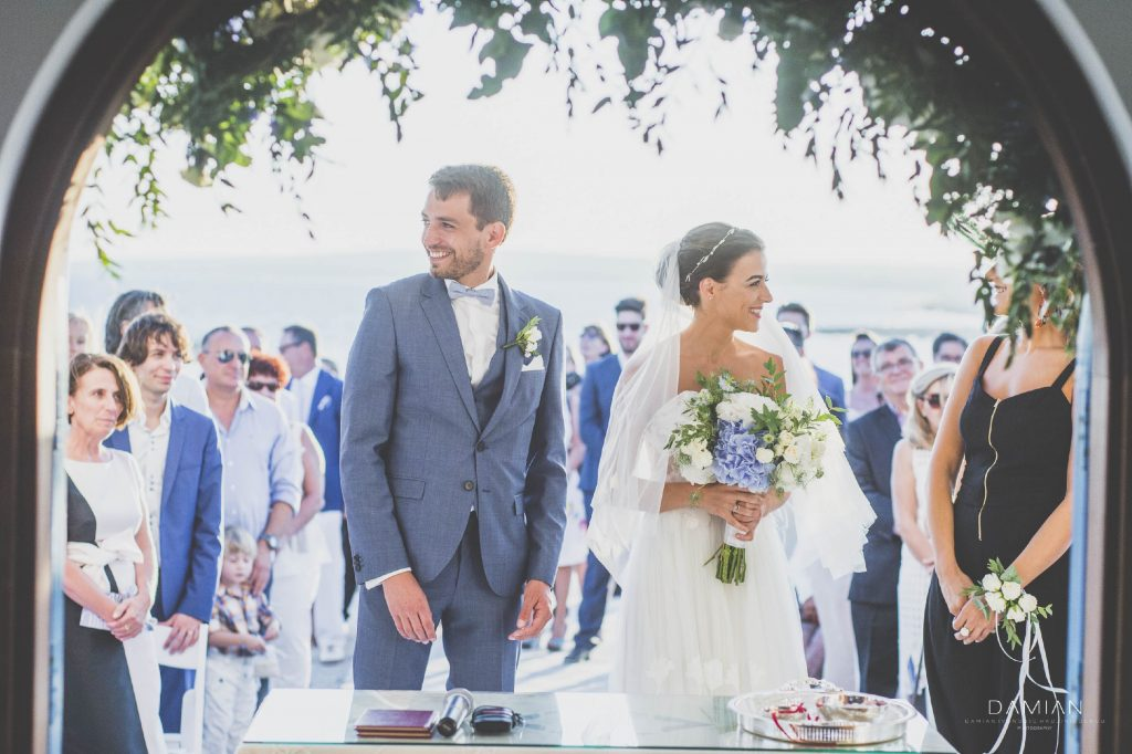 A perfect summer wedding ceremony